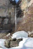 Kinchha waterfall in the canyon of the river Okatse, Georgia. Royalty Free Stock Photos
