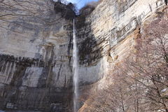 Kinchha waterfall in the canyon of the river Okatse, Georgia. Stock Photography