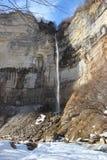 Kinchha waterfall in the canyon of the river Okatse in winter, Georgia. Stock Image