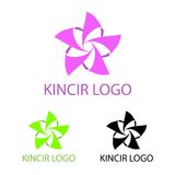 Kincir Logo Template. This logo is great for many bussines and company Royalty Free Stock Photo