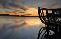 从Kincumb唔澳大利亚的日落视图 库存图片