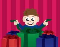 Kind-Öffnungs-Geschenke Stockfoto