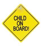 Kind aan boord van teken Stock Fotografie