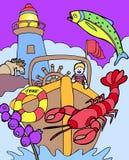 Kind-Abenteuer: Besuchsmaine Stockbild