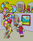 Kind-Abenteuer: Museums-Besuch Lizenzfreie Stockfotos