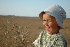 Kind auf dem Feld Stockbild