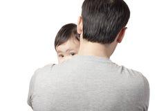 Kind auf der Schulter Stockfotos