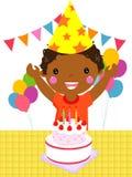 Kind auf einem Geburtstag stock abbildung