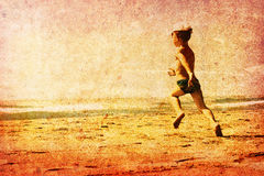 Kind auf einem Strand Stockfotografie