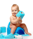 Kind auf potty Lizenzfreies Stockbild