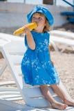 Kind auf Strand Lizenzfreies Stockbild