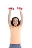 Kind auf weißem Hintergrund lizenzfreie stockfotos