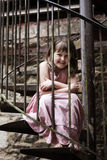 Kind auf Wendeltreppe Lizenzfreies Stockfoto