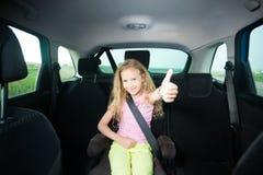 Kind in auto Royalty-vrije Stock Afbeeldingen