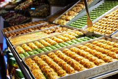 The kind of the baklava desert stock photography