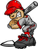 Kind-Baseball-Eierteig-Holding-Hieb Lizenzfreie Stockfotos