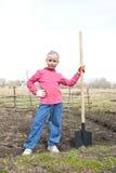 Kind bereit zu graben Stockfotografie