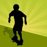 Kind Berijdend Skateboard Royalty-vrije Stock Afbeeldingen
