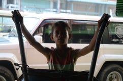 Kind-bersemagat für Nahrung Lizenzfreie Stockfotos