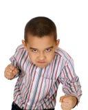 Kind betriebsbereit zu kämpfen Lizenzfreie Stockfotos
