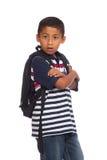 Kind betriebsbereit zur Schule Stockfoto