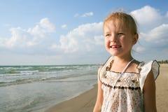 Kind bij het overzees Royalty-vrije Stock Foto's