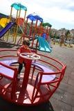 Kind bij park Stock Fotografie