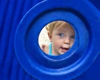 Kind bij Speelplaats Stock Foto
