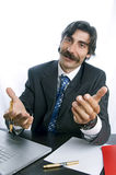 Kind Boss. Thankful kind boss working in his desk Royalty Free Stock Image