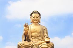 Kind of Buddha and the sky Royalty Free Stock Photos