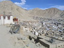 Kind on capital Leh and mountains surrounding it. Royalty Free Stock Photography