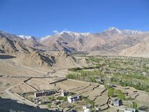 Kind on capital Leh and mountains surrounding it. Stock Image