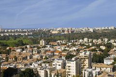 Kind on the city of Tel Aviv. The beautiful kind on is proud Tel Aviv from a window Stock Photo