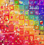 Kind colorful painted child illustration Stock Images