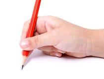 Kind, das 2 schreibt Lizenzfreie Stockbilder