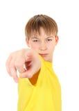 Kind, das auf Sie zeigt Stockbilder