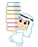 Kind, das Bücher hält lizenzfreie abbildung