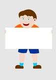 Kind, das eine Fahne anhält Stockfotos