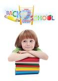 Kind, das für Volksschule sich vorbereitet Lizenzfreies Stockfoto