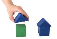 Kind, das Haus bildet Lizenzfreies Stockfoto