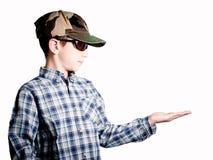 Kind, das mit der Hand stützt Lizenzfreie Stockbilder