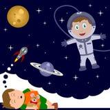 Kind, das mit Fantasie spielt vektor abbildung