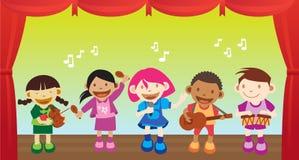 Kind, das Musik durchführt Stockfotos