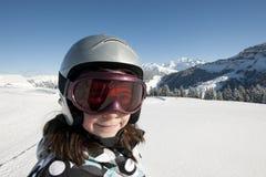 Kind dat, Franse Alpen skiô Royalty-vrije Stock Fotografie