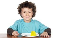 kind dat het boring eet Royalty-vrije Stock Afbeeldingen