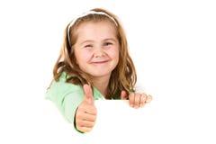 Kind dat lege raad houdt royalty-vrije stock afbeeldingen