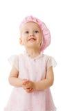 Kind dat omhoog kijkt royalty-vrije stock foto's