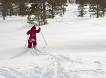Kind dat van weg ski?t Royalty-vrije Stock Fotografie