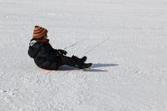 Kind in de sneeuw Royalty-vrije Stock Foto's