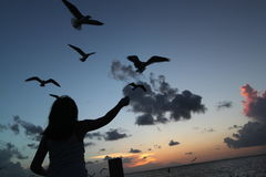 Kind in dem Ozean Lizenzfreies Stockbild